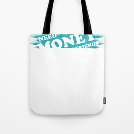 Money Monets Gift Charcoal Taler Dough Penunze Tote Bag