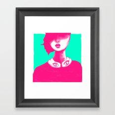 Contemporary Collar Framed Art Print