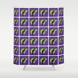 Bang Bang (Violet) Shower Curtain