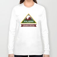 psych Long Sleeve T-shirts featuring Psych - Dual Spires Cinnamon Festival by Fried Egg
