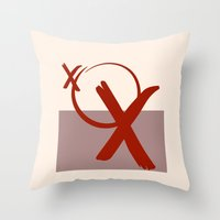 xoxo Throw Pillows featuring XOXO by clemm