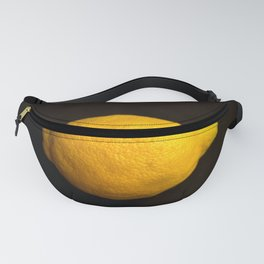 Yellow Lemon On A Black Background #decor #society6 Fanny Pack