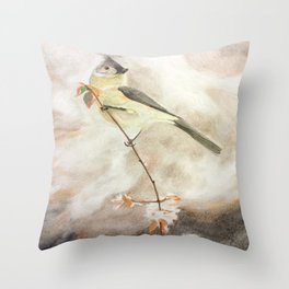 A Lonely Lady Tuft Throw Pillow