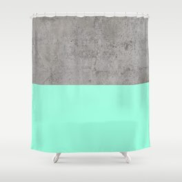 Sea on Concrete Shower Curtain