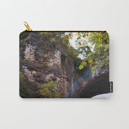 Looking up to the Natural Bridge, VA Carry-All Pouch