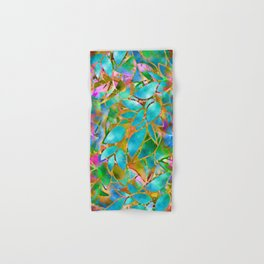 Floral Abstract Stained Glass G265 Hand & Bath Towel