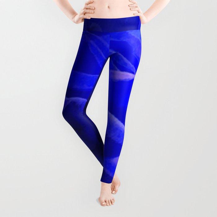 Rose in Blue Leggings