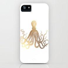 Gold Octopus  Slim Case iPhone SE