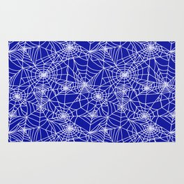 Royal Blue Cobwebs Rug