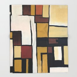 Composition with squares and rectangles Throw Blanket