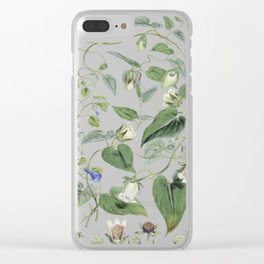 Botanical Leafy Bluebells Clear iPhone Case