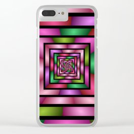 Colorful Tunnel 1 Digital Art Graphic Clear iPhone Case