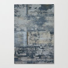 Warehouse District -- Vintage Industrial Farm Chic Abstract Canvas Print
