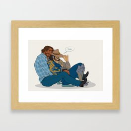 Get McCuddled Framed Art Print