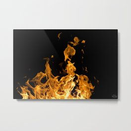 Enduring the Flame Metal Print