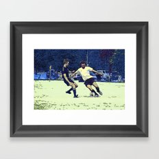 The Challenge - Soccer Players Framed Art Print