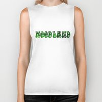woodland Biker Tanks featuring Woodland by Geni