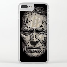 Clint Eastwood Clear iPhone Case