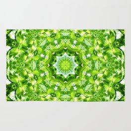 GREEN LEAVES MANDALA Rug
