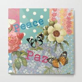 Peace Paz Pax Pace Metal Print