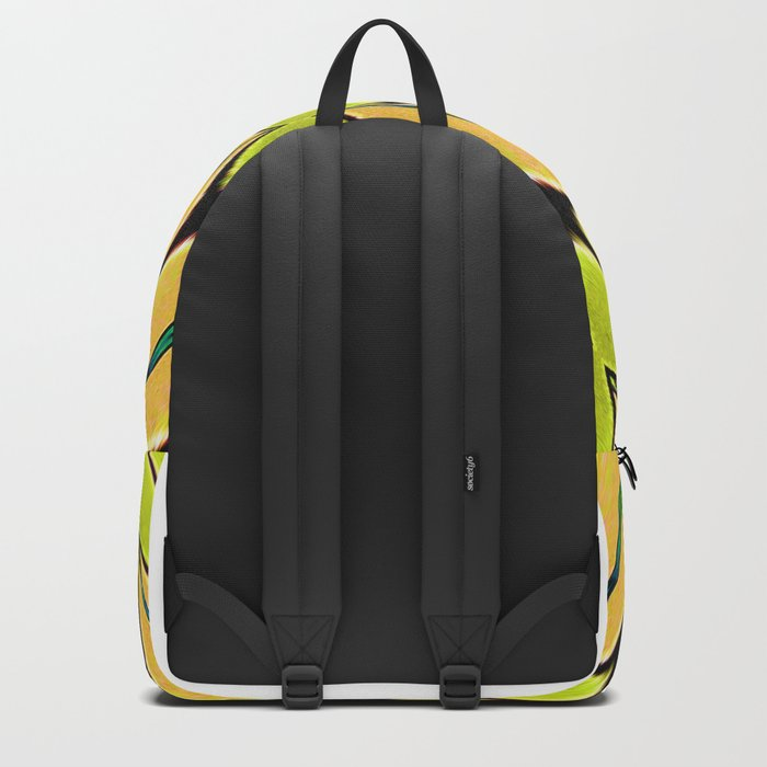 Orange/Green abstract Backpack