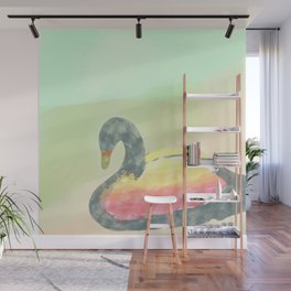 Softness Swan Wall Mural