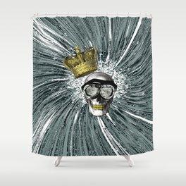Skull Storm Shower Curtain