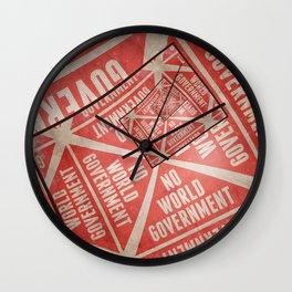 No World Government Wall Clock