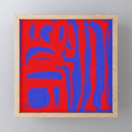Abstract in Blue and Red I Framed Mini Art Print