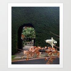 Behind the Gate Art Print
