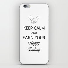 Earn Your Happy Ending [Black] iPhone & iPod Skin