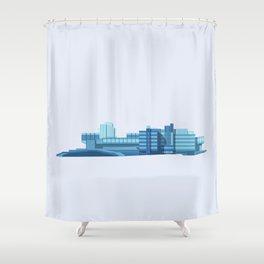 Brutalist Sphinx Shower Curtain