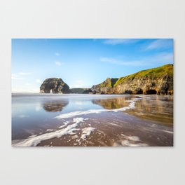 Nun's Beach Reflections Canvas Print