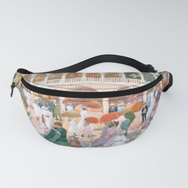 Sunlight on the Piazzetta by Maurice Prendergast Fanny Pack
