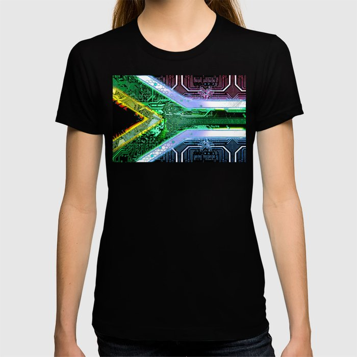 circuit board South Africa (Flag) T-shirt