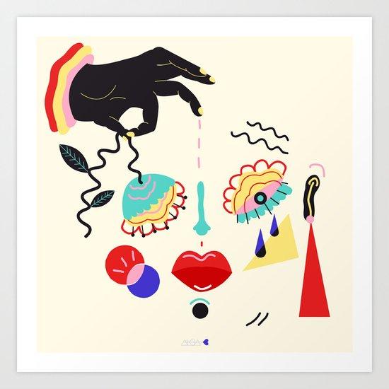 cry baby Art Print