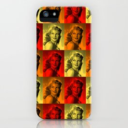 Rita Hayworth Color iPhone Case