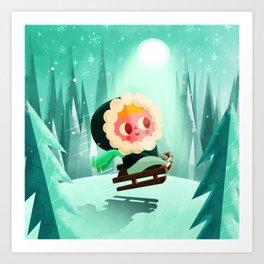 Dreamers - Snow Art Print