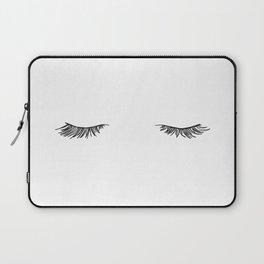 Closed eyes illustration - Lashes Laptop Sleeve