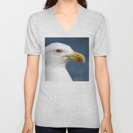Seagull up close Unisex V-Neck