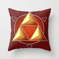 triforce Throw Pillows featuring Triforce by lythy