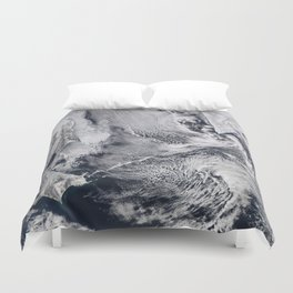 Sea Ice, Clouds in the Sea of Okhotsk Duvet Cover