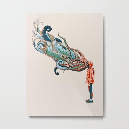 Octopus in me Metal Print
