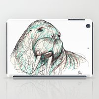 walrus iPad Cases featuring Walrus by Ursula Rodgers