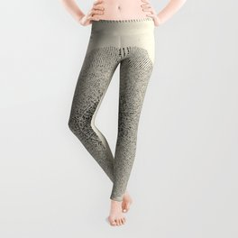TIME WARP Minimalist Modern and Vintage Illustration Design of Another Outer Space Ship Dimension Leggings