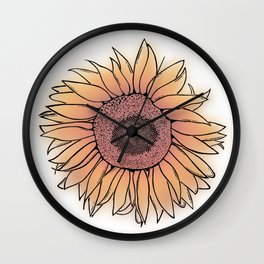 Mother Nature's Genius - Black Outline with colour Wall Clock