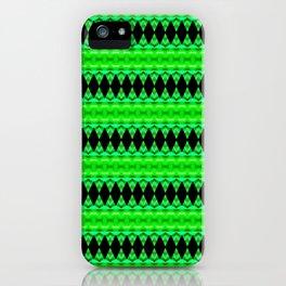 Black Diamonds on green iPhone Case