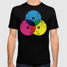 Music is the colors of life Black LARGE Mens Fitted Tee
