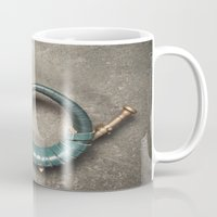 french Mugs featuring French Horn by Maria Heyens