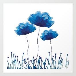 White and Blue Art Print
